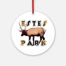Estes Park , Colorado Elk  Ornament (Round)