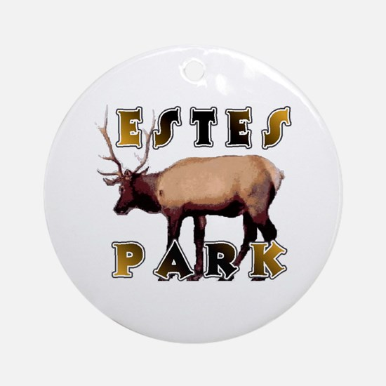 Estes Park , Colorado Elk  Ornament (Round)