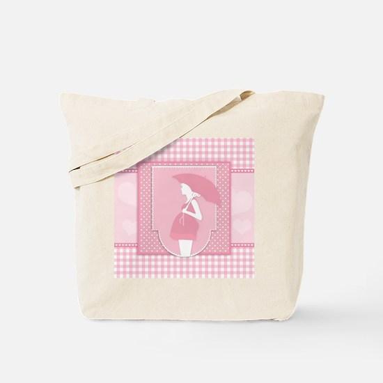 pink pregnancy Tote Bag