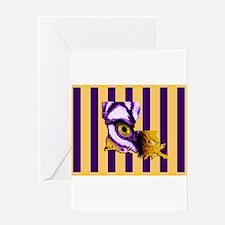 Louisiana State Tiger Eye 3 Greeting Cards