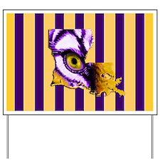 Louisiana State Tiger Eye 3 Yard Sign