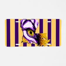 Louisiana State Tiger Eye 3 Aluminum License Plate