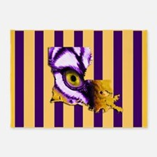 Louisiana State Tiger Eye 3 5'x7'Area Rug