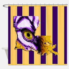 Louisiana State Tiger Eye 3 Shower Curtain