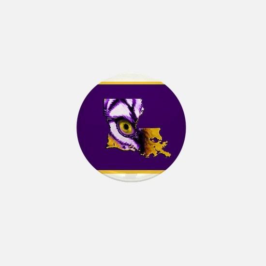 Louisiana State Tiger Eye Mini Button
