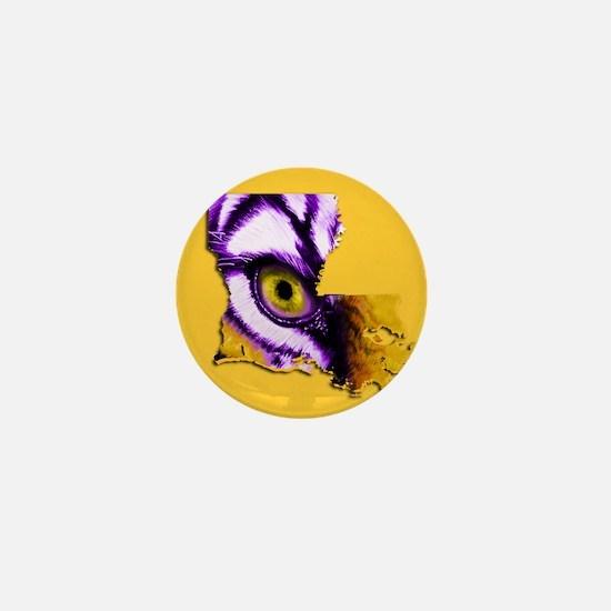 Louisiana State Tiger Eye 2 Mini Button