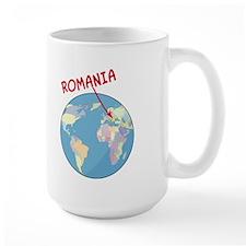 Romania Globe Mug