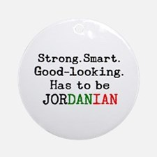 be jordanian Round Ornament