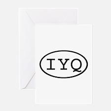 IYQ Oval Greeting Card