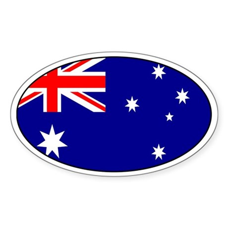Australian stickers Oval Sticker