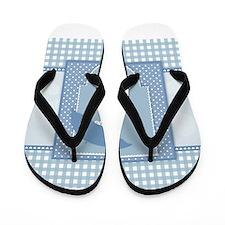 blue pregnancy Flip Flops
