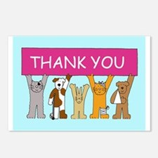 Cute Thank you Postcards (Package of 8)