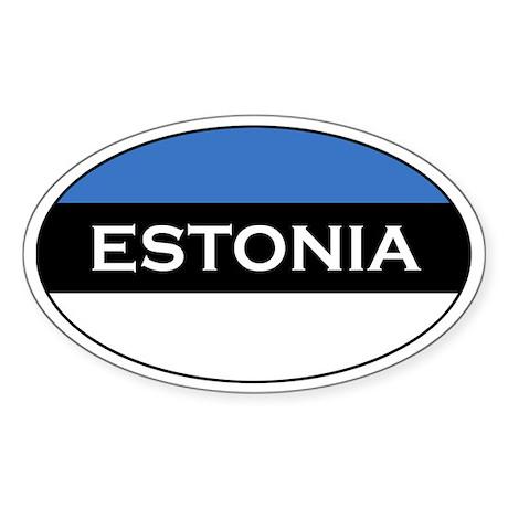 Estonian Stickers Oval Sticker