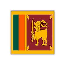 """Sri Lanka Flag Square Sticker 3"""" x 3"""""""