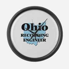 Ohio Recording Engineer Large Wall Clock
