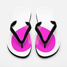 Ribbon Heart Charity Design Flip Flops