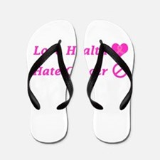 Love Health, Hate Cancer Charity Design Flip Flops