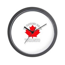 I'd Rather Be in Toronto Wall Clock