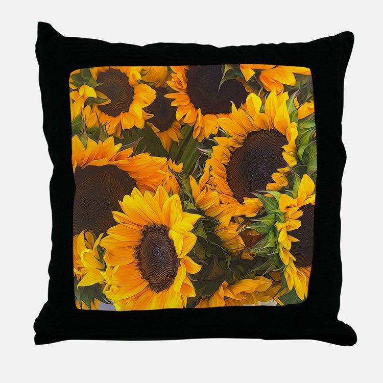 Decorative Pillows With Sunflowers : Sunflowers Pillows, Sunflowers Throw Pillows & Decorative Couch Pillows
