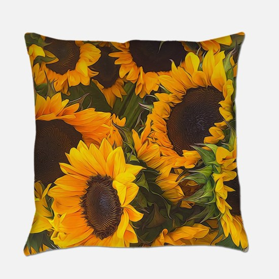 Cute Sunflowers Everyday Pillow