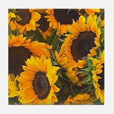 Unique Sunflower Tile Coaster