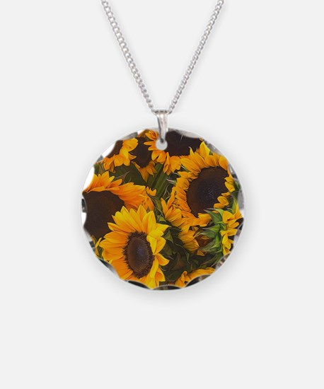 Unique Sunflower Necklace