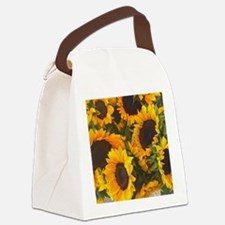 Cute Yellow Canvas Lunch Bag