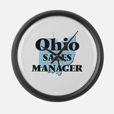 Ohio Sales Manager Large Wall Clock
