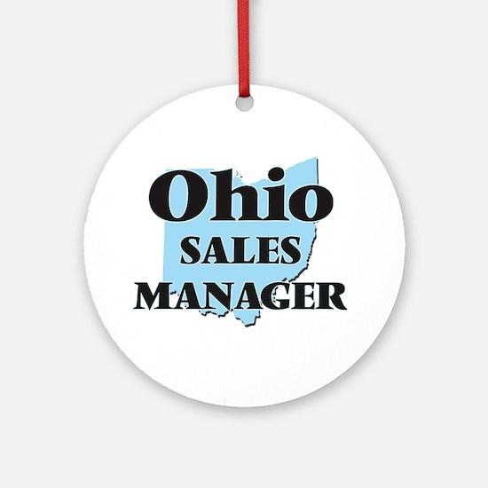 Ohio Sales Manager Round Ornament