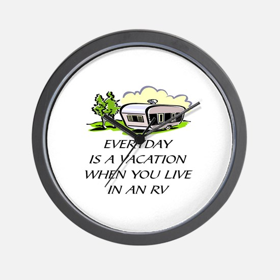 EVER DAY IS A VACATION WHEN YOU LIVE IN Wall Clock