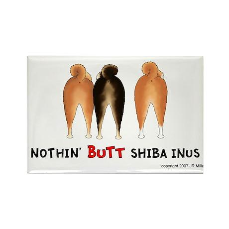 Nothin' Butt Shiba Inus Rectangle Magnet (10 pack)