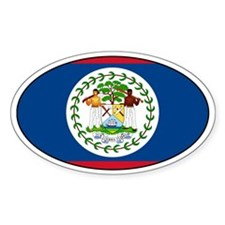 Belizean stickers Oval Decal