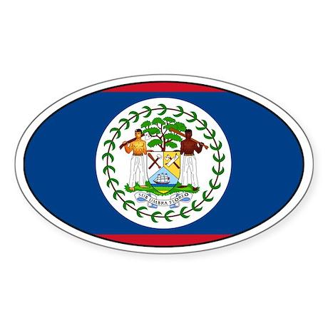 Belizean stickers Oval Sticker