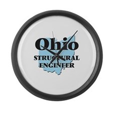 Ohio Structural Engineer Large Wall Clock