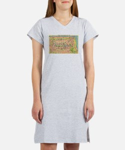 Vintage Map of Edinburgh Scotla Women's Nightshirt