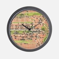 Vintage Map of Edinburgh Scotland (1935 Wall Clock
