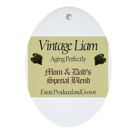 Vintage Liam Oval Ornament