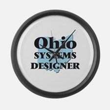 Ohio Systems Designer Large Wall Clock