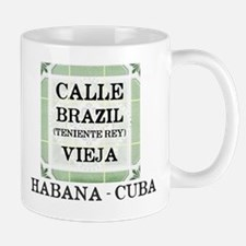 CUBA - TILE STREET SIGNS - HABANA - CALLE BRA Mugs
