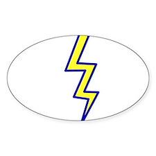 Lightning Bolt Oval Decal