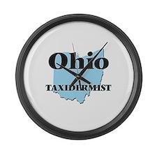 Ohio Taxidermist Large Wall Clock
