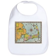 Vintage Map of Cape Cod Bib