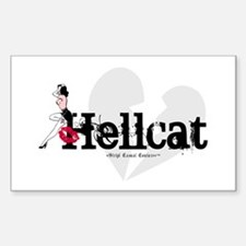 Vintage Hellcat Rectangle Decal