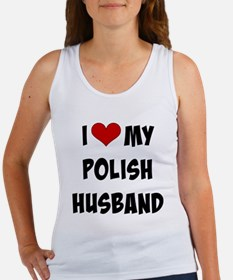 I Love My Polish Husband, funky f Women's Tank Top