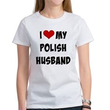 I Love My Polish Husband, funky fo Tee