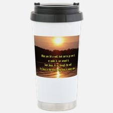 The Wall and Jesus Stainless Steel Travel Mug