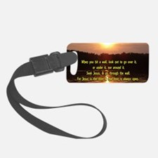 The Wall and Jesus Luggage Tag