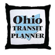 Ohio Transit Planner Throw Pillow