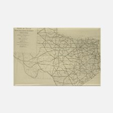 Vintage Texas Highway Map (1919) Magnets