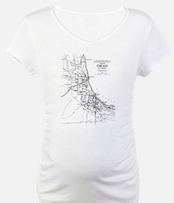 Vintage Map of The Chicago Railr Shirt